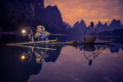 Cormoran-Fisherman-in-the-river